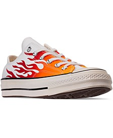 Men's Chuck Taylor 70 Flame Low Top Casual Sneakers from Finish Line