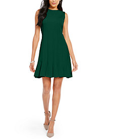 julia jordan Pleated-Hem Fit & Flare Dress