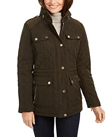 Hooded Quilted Anorak Coat, Created for Macy's