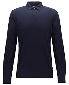 BOSS Men's Paver Slim-Fit Long-Sleeved Polo Shirt