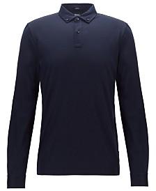 BOSS Men's Paver Slim-Fit Long-Sleeved Polo Shirt