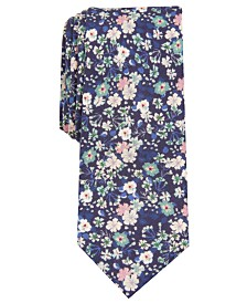 Bar III Men's Snyder Skinny Floral Tie, Created for Macy's