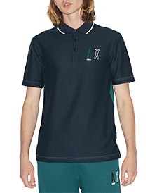 Men's Stenciled Logo Polo Shirt