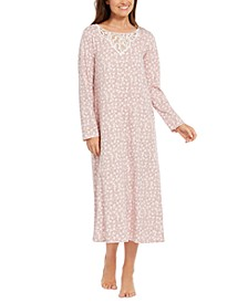Cotton Lace-Trim Printed Nightgown, Created for Macy's