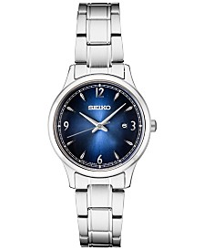 Seiko Women's Essentials Stainless Steel Bracelet Watch 28.7mm