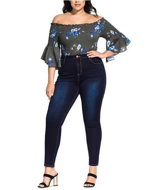 City Chic Trendy Plus Size Harley Skinny Jeans