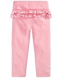 First Impressions Baby Girls Eyelet-Ruffled Leggings, Created for Macy's