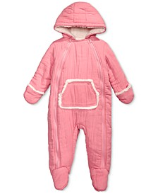 Baby Boys & Girls Hooded Footed Bunting Snowsuit with Faux-Fur Trim, Created for Macy's