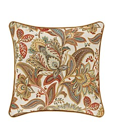 "Five Queens Court August 18"" Square Decorative Throw Pillow"
