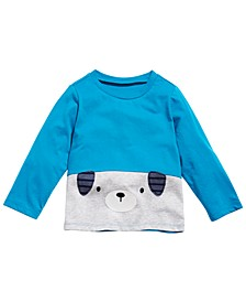 Toddler Boys Colorblocked Puppy T-Shirt, Created for Macy's
