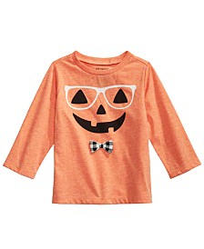 First Impressions Baby Boys Hipster Pumpkin T-Shirt, Created for Macy's