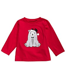 Baby Boys Santa Bear-Print T-Shirt, Created For Macy's