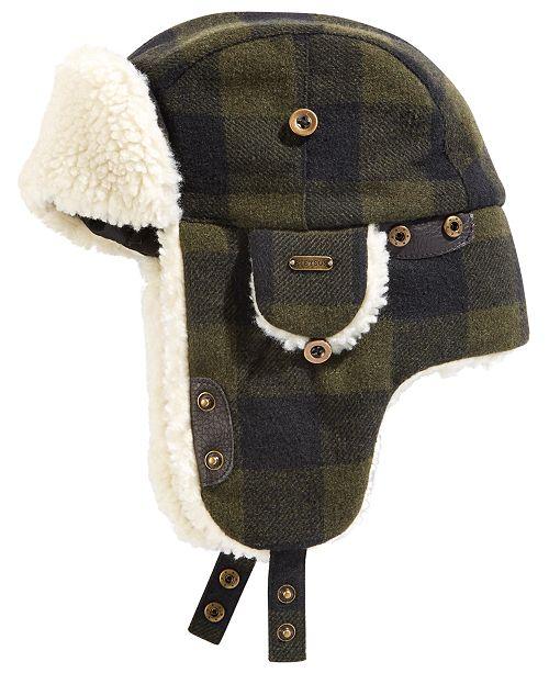 STETSON Men's Plaid Trapper Hat