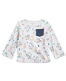 First Impressions Toddler Boys Forest-Print Pocket T-Shirt, Created for Macy's