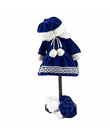 """15"""" Baby Bitty Velvet Dress, Tights, Hat and Bootie Shoes"""