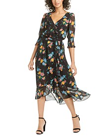 Ysabelle Printed Midi Dress