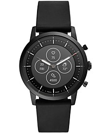 Tech Collider Black Silicone Strap Hybrid Smart Watch 42mm