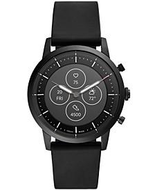 Tech Collider Black Silicone Strap Hybrid Smart Watch 42mm