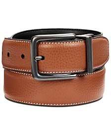 Perry Ellis Men's Tumbled Reversible Leather Belt