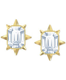 Swarovski Gold-Tone Crystal Sunburst Stud Earrings