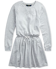 Polo Ralph Lauren Big Girls French Terry Ruffle Dress