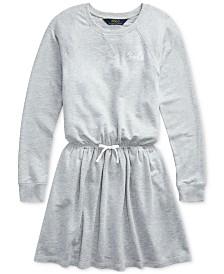 Polo Ralph Lauren Big Girls French Terry Ruffle Dress