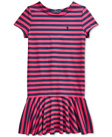 Polo Ralph Lauren Big Girls Striped Jersey Cotton Dress