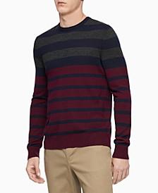Men's Colorblock Striped Sweater