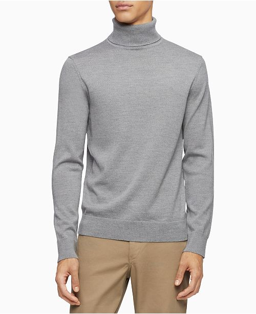 Calvin Klein Men's Merino Wool  Turtleneck Sweater
