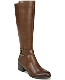 Naturalizer Kelso Leather Wide Calf High Shaft Boots