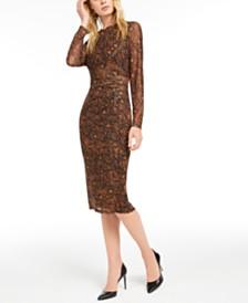 I.N.C. Snake-Mesh Dress, Created for Macy's