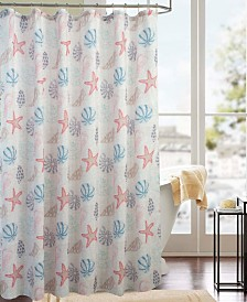 RT Designers Collection Classic Ocean Printed Shower Curtain