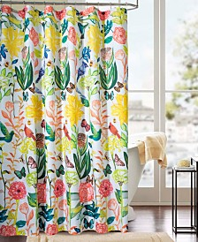 RT Designers Collection Classic Tropical Printed Shower Curtain
