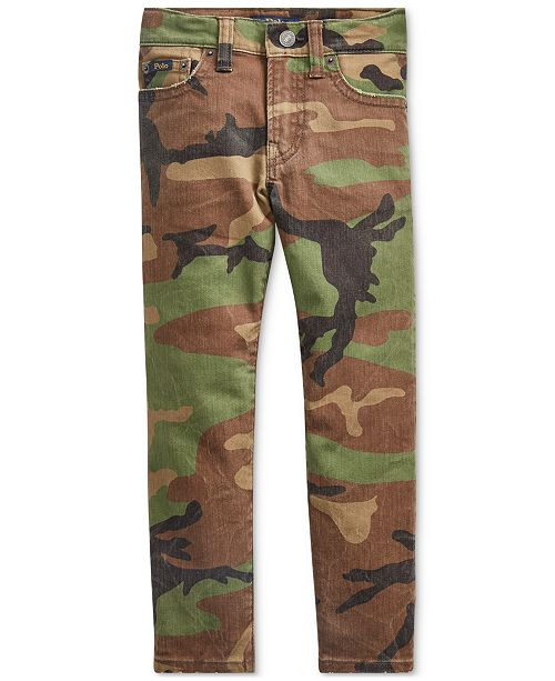 Polo Ralph Lauren Little Boys Slim-Fit Sullivan Camo Jeans