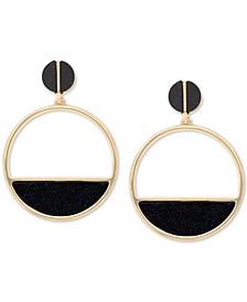 Gold-Tone Colorblock Drop Earrings