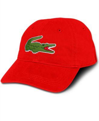 lacoste menu0027s large croc gabardine cap