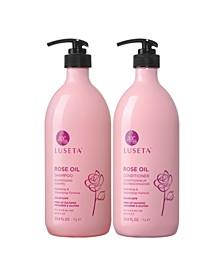 Luseta Beauty Rose Oil Shampoo & Conditioner Set 67.6 Ounces