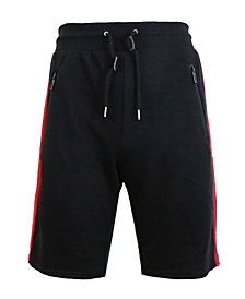 Galaxy By Harvic Men's French Terry Sweat Shorts with Contrast Trim Zipper Pockets