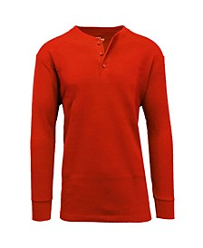 Men's Long Sleeve Thermal Henley Tee