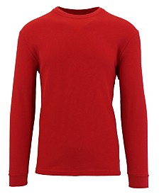 Galaxy By Harvic Men's Waffle Knit Thermal Shirts with Contast Side Trim