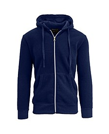 Men's Full Zip Fleece Hooded Sweatshirt