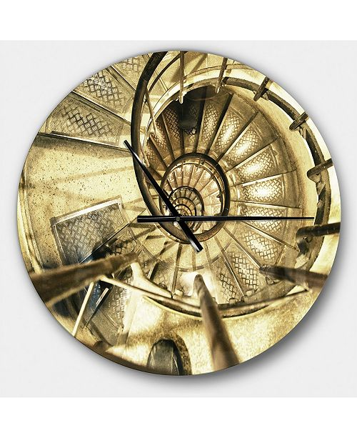 Design Art Designart Oversized Industrial Round Metal Wall Clock