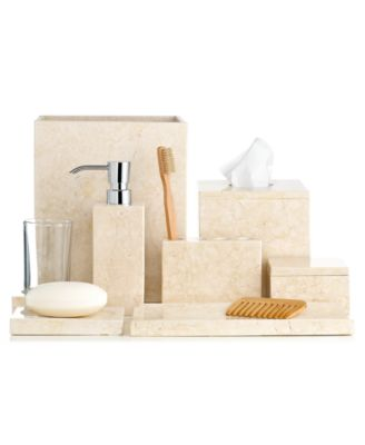CLOSEOUT Hotel Collection Marble Collection Bathroom Accessories