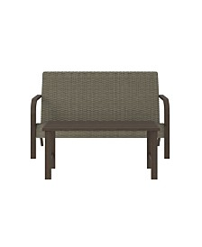 Cosco Outdoor Living Smartwick Patio Loveseat And Coffee Table Set
