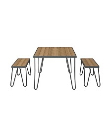 Novogratz Poolside Collection Paulette Outdoor Table and Bench Set