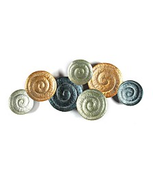 Luxen Home Swirl Plates Metal Wall Art