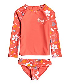 Roxy Toddler Girl Fruity Shake Long Sleeve Lycra Set