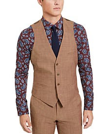 Men's Slim-Fit Active Stretch Performance Gold Suit Separate Vest, Created for Macy's