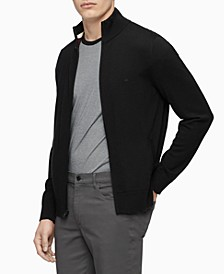 Men's Merino Wool  Full-Zip Sweater