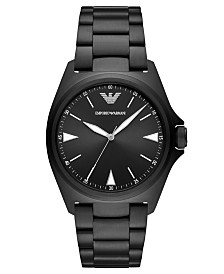 Emporio Armani Men's Black Stainless Steel Bracelet Watch 40mm